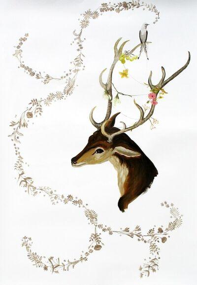 Anne Siems, 'Deer and Bird'