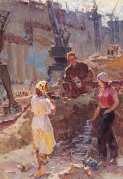 Vasily Vasilevich Strigin, 'At the water spring', 1958