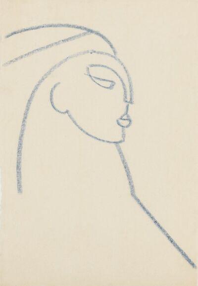 Gaston Lachaise, 'Head, Facing Right', ca. 1921