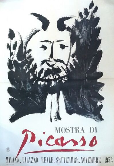 Pablo Picasso, 'Faun - Poster - Picasso Exhibition in Milan', 1953