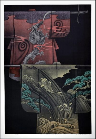 Katsunori Hamanishi, 'Kimono Ryu and Carp', 2012