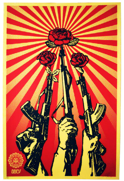 Shepard Fairey, 'Guns and Roses', 2007