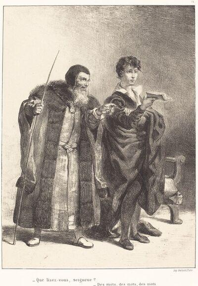 Eugène Delacroix, 'Polonius and Hamlet (Act II, Scene II)', 1834/1843