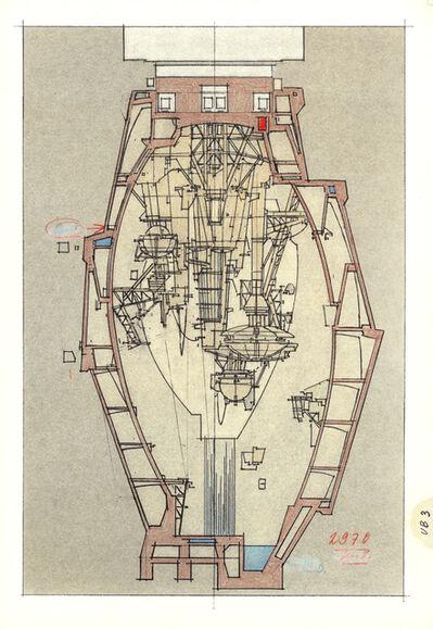 "Lebbeus Woods, 'Underground Berlin, Illustration ""3""', 1988"