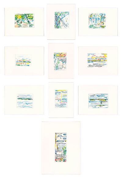 Roy Lichtenstein, 'Landscape Sketches', 1986