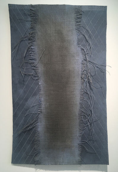 Grace Bakst Wapner, 'Blue Burlap with Stitched Canvas', 2019
