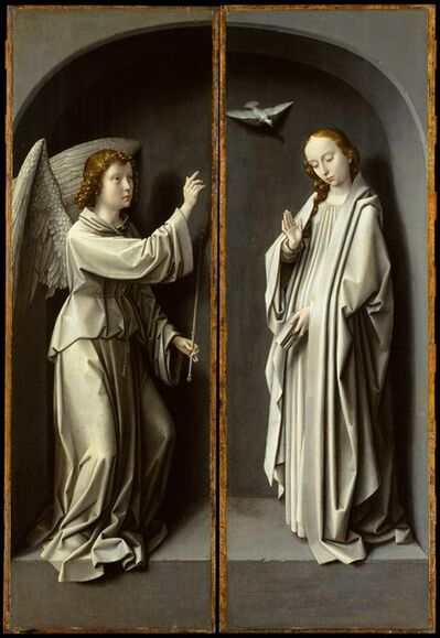 Gerard David, 'Archangel Gabriel; The Virgin Annunciate', ca. 1510