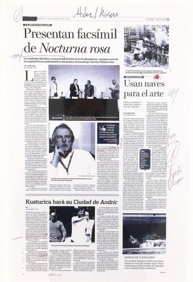 Carlos Amorales, 'Tercera Nota Excelsior', 2013