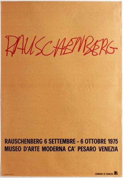 Robert Rauschenberg, 'Museo D'Arte Moderna, Ca' Pesaro Venezia ', 1975