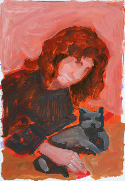Franco Fasoli, 'Woman with Cat', 2018