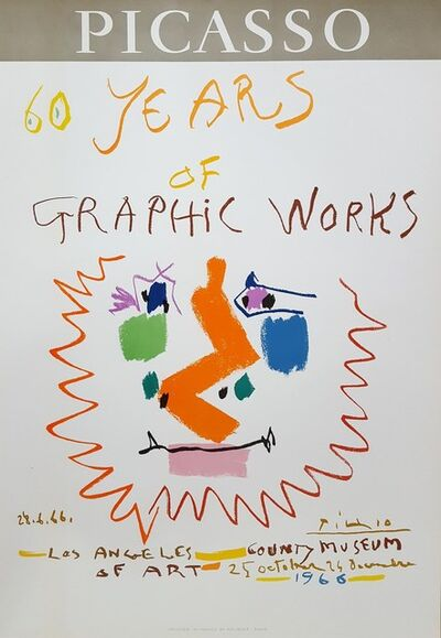 Pablo Picasso, '60 Years of Graphic Works: LACMA', 1966