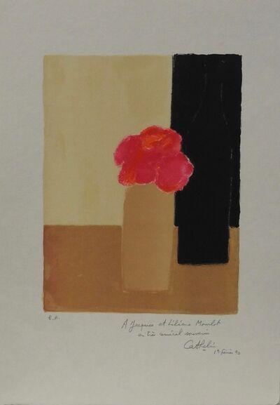 Bernard Cathelin, 'Pink flowers in a vase', 1990