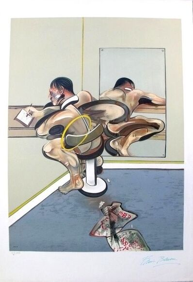 Francis Bacon, 'Figure writing reflected in mirror', 1976