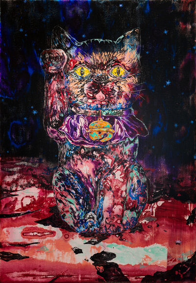 Wang Liang-Yin, 'A Maneki-neko Under Starry Night', 2020