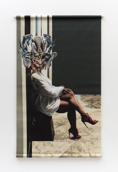 Willie Cole, 'Head over Heels (Snake Charmer)', 2019