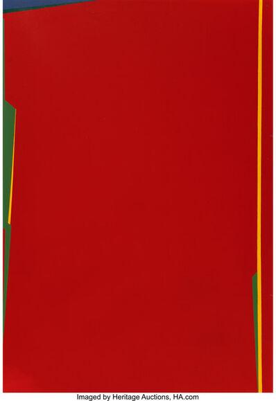 Saliba Douaihy, 'Abstraction en rouge', 1983