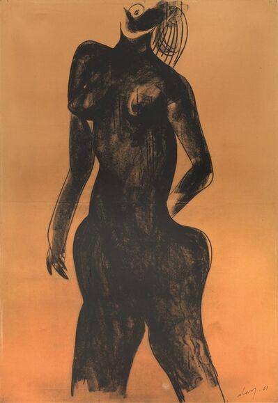 Gianni Dova, 'Female nude', 1961