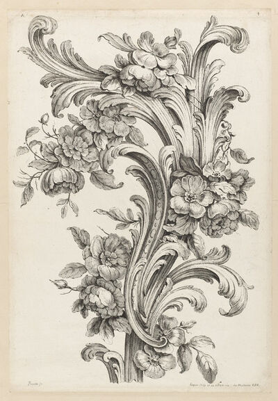 Alexis Peyrotte, 'Floral and Acanthus Leaf Design', 1740