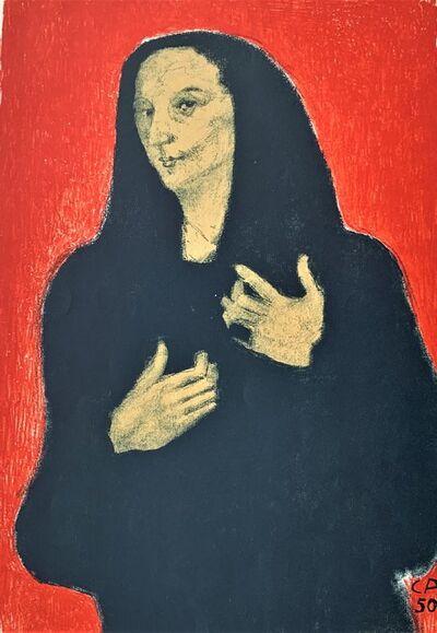 Cuno Amiet, 'Une Veuve', 1950