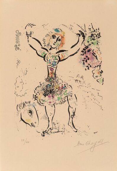 Marc Chagall, 'La jongleuse, from Chagall Lithographe, Vol. I', 1960