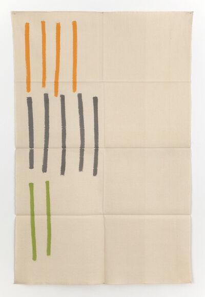 Giorgio Griffa, 'Verticale', 1969