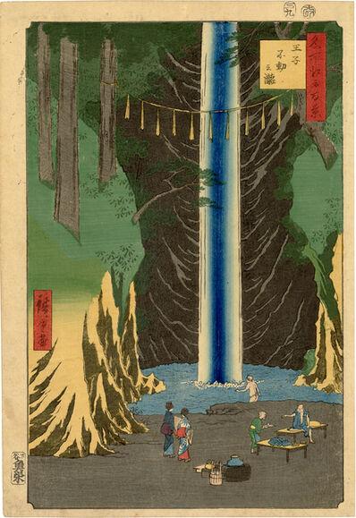 Utagawa Hiroshige (Andō Hiroshige), 'Fudo Falls, Oji from 100 Famous Views of Edo', 1857