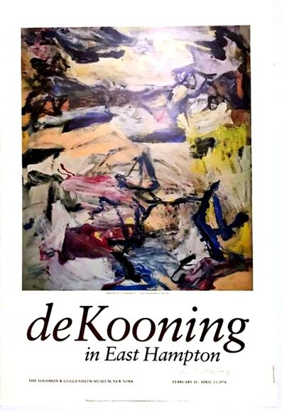 Willem de Kooning, 'de KOONING IN EAST HAMPTON (Signed)', 1978