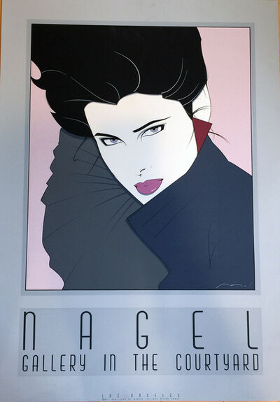 """Patrick Nagel, 'Gallery in the Courtyard, """"NC7""""', 1985"""