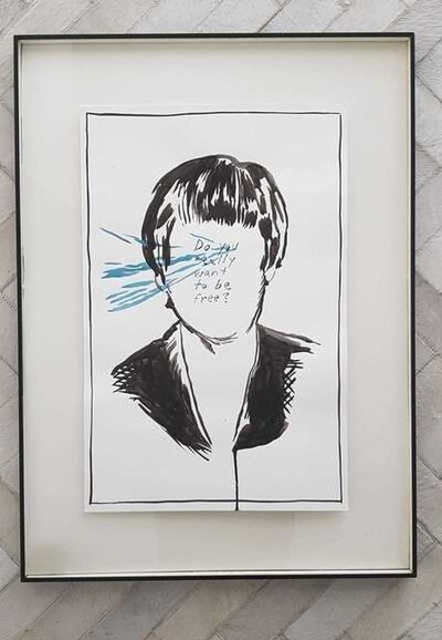Raymond Pettibon, 'Do You Really Want to Be Free? (Portrait)', 1987