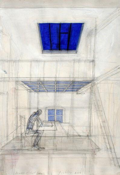 Walter Pichler, 'Drinnen zeichnet einer', 2005