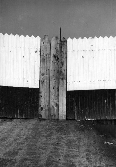 Rudy Burckhardt, 'Wood Fence', 1940
