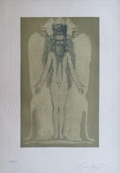 Ernst Fuchs, 'KABBALAH - 32 PATHS TO WISDOM #3', 1978