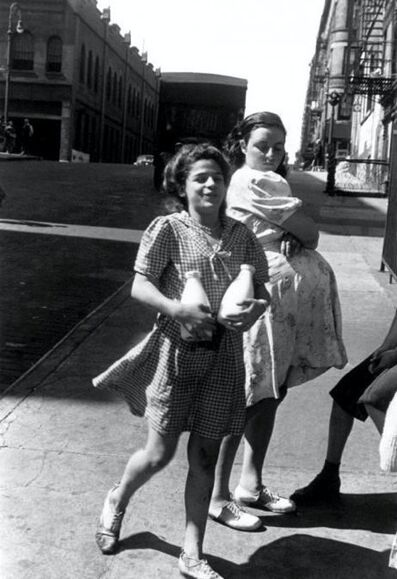 Helen Levitt, 'Untitled, New York (Woman carrying milk)', 1945
