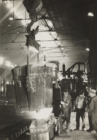 Margaret Bourke-White, 'Pouring Ingots, Ludlum Steel Co.', 1930
