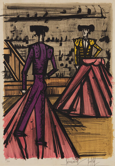 Bernard Buffet, 'Deux toréadors (Two Bullfighters), from Album Toréros', 1966