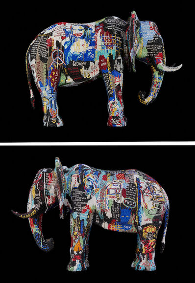 """Metis Atash, 'ELEPHANT XLarge """"BROKEN OPEN"""" feat. Basquiat,', 2019"""