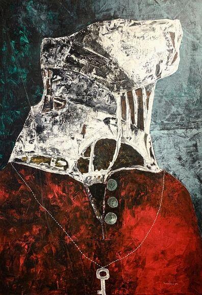 Sambou Diouf, 'Soutane rouge', 2019