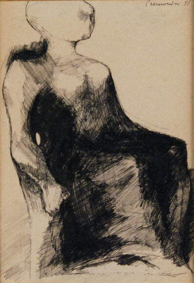 Leonardo Cremonini, 'Seated Figure', 1957