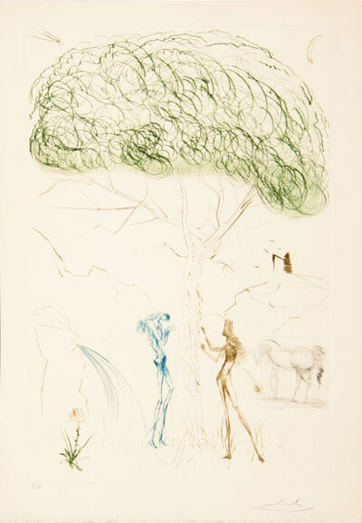 Salvador Dalí, 'Underneath the Pine Umbrella', 1970