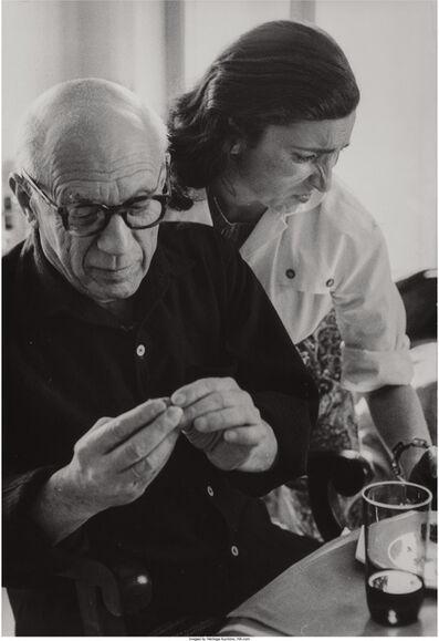 David Douglas Duncan, 'Picasso and Jaqueline', circa 1950s