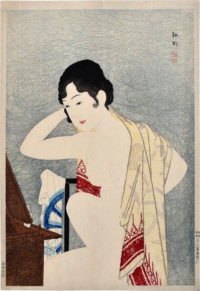 Hiroaki Takahashi (Shotei), 'Make-up before the mirror (moga)', ca. 1927-30
