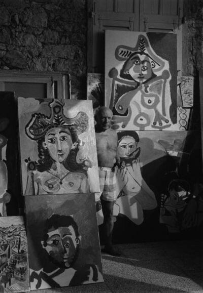 Lucien Clergue, 'Picasso dans son atelier a Notre-Dame de Vie, Mougins', 1965