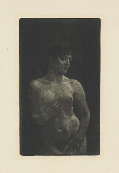 Max Klinger, 'Weiblicher Akt in Schabkunst', 1891