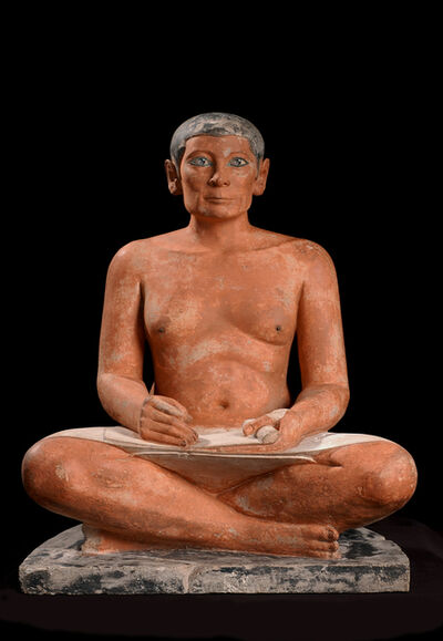 'Le scribe accroupi (The seated scribe)', 4th or 5th dynasty, 2600, 2350 BC