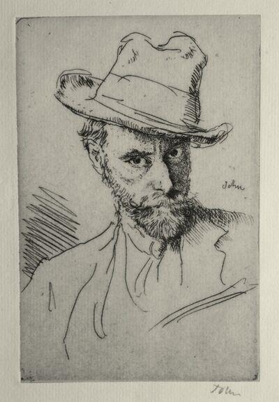 Augustus John, 'Self Portrait with Hat', 1919