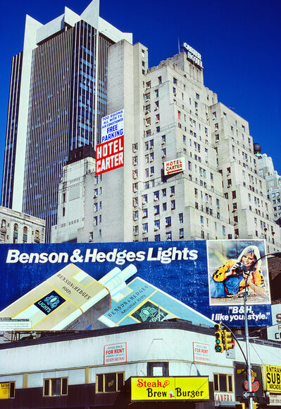 Mitchell Funk, '42nd Street Hotel Carter with Benson & Hedges Lights', 1979
