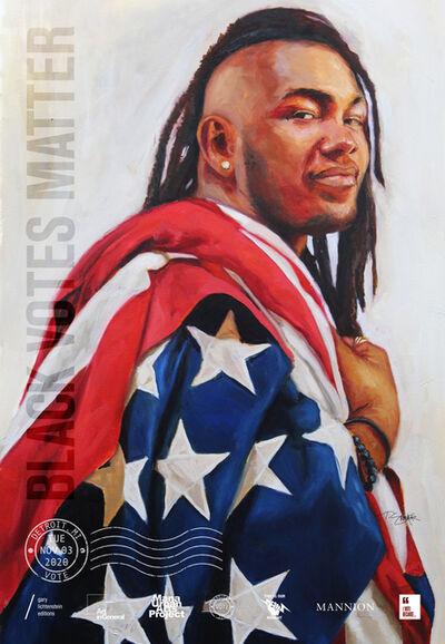 Tylonn Sawyer, 'Detroit, Michigan Get Out The Vote Poster by Tylonn J. Sawyer', 2020