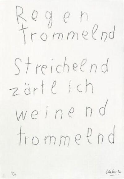 "Günther Uecker, 'From the Mappenwerk ""Regen""', 1992"