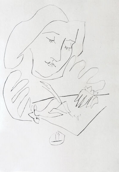 Pablo Picasso, 'A Woman Writing ', 1948