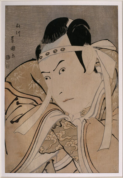 Utagawa Toyokuni I, 'Portrait of the actor Ichikawa Yaozô III in the role of Minamoto no Yoshitsune', 1796